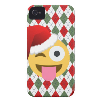 santa claus wink emoji iPhone 4 cover