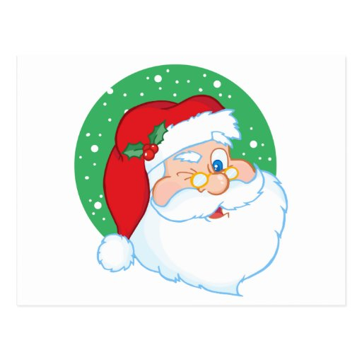 Santa Claus Winking Postcard