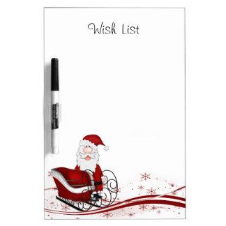Santa Claus Wish List Dry Erase Board