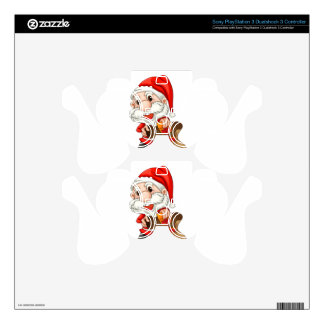 Santa Claus with a brown sack Skin For PS3 Controller