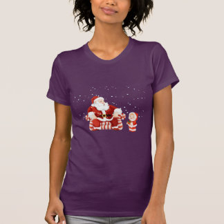 Santa Claus with a child on his lap T-Shirt
