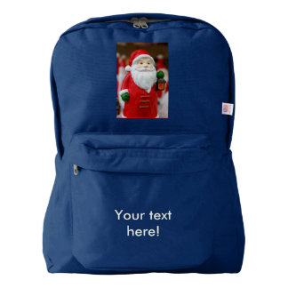 Santa Claus with a lantern Christmas decoration American Apparel™ Backpack