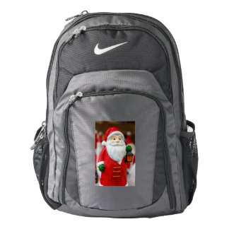 Santa Claus with a lantern Christmas decoration Backpack