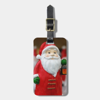 Santa Claus with a lantern Christmas decoration Bag Tag