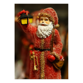 Santa Claus with a lantern Christmas decoration Business Card