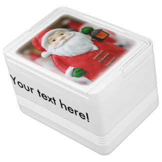 Santa Claus with a lantern Christmas decoration Cooler
