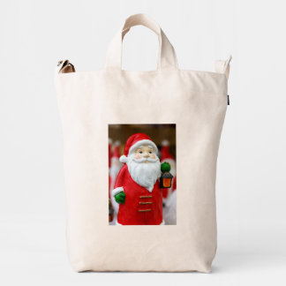 Santa Claus with a lantern Christmas decoration Duck Bag
