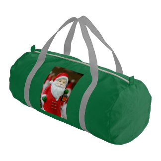 Santa Claus with a lantern Christmas decoration Duffle Bag