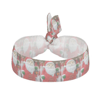 Santa Claus with a lantern Christmas decoration Hair Tie
