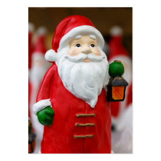 Santa Claus with a lantern Christmas decoration Large Business Card