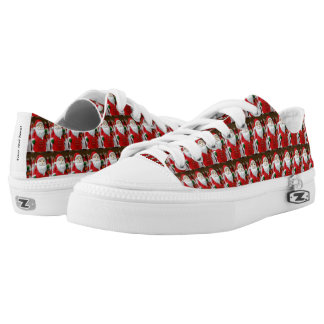 Santa Claus with a lantern Christmas decoration Low-Top Sneakers