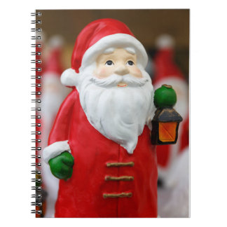 Santa Claus with a lantern Christmas decoration Notebook