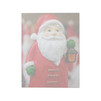 Santa Claus with a lantern Christmas decoration Notepad