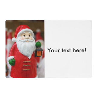 Santa Claus with a lantern Christmas decoration Placemat