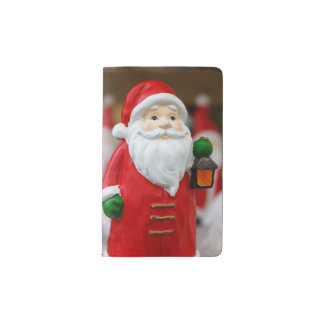 Santa Claus with a lantern Christmas decoration Pocket Moleskine Notebook