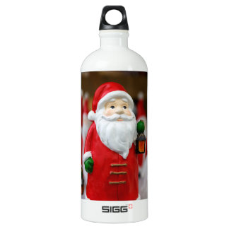 Santa Claus with a lantern Christmas decoration Water Bottle