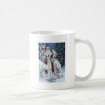 Santa Claus With An Owl And Polar Bears Coffee Mug