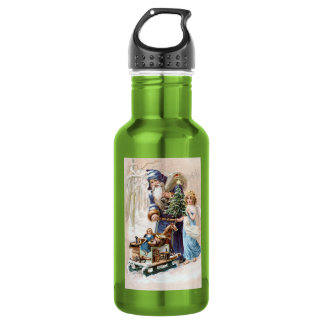 Santa Claus with Angel 18oz Water Bottle