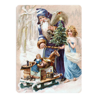Santa Claus with Angel Card