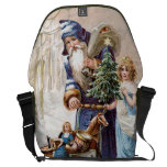 Santa Claus with Angel Courier Bags