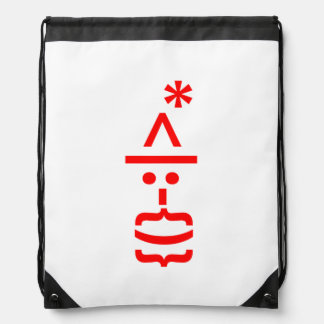 Santa Claus with Beard Christmas Smiley Emoticon Drawstring Bag
