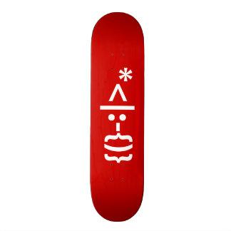 Santa Claus with Beard Christmas Smiley Emoticon Skateboard
