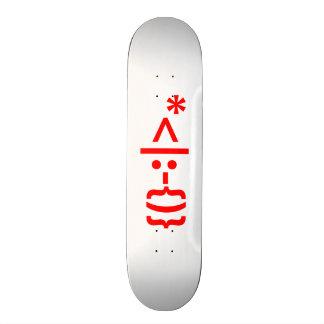 Santa Claus with Beard Christmas Smiley Emoticon Skateboard Deck