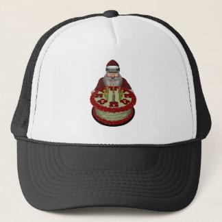 Santa Claus With Birthday Cake Trucker Hat