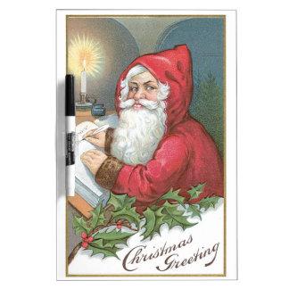 Santa Claus with Blue Eyes Dry-Erase Board