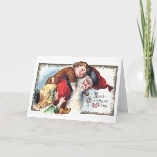 Santa Claus with Boy and Girl