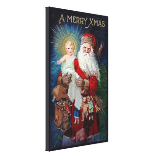 Santa Claus with Christ Child Canvas Print