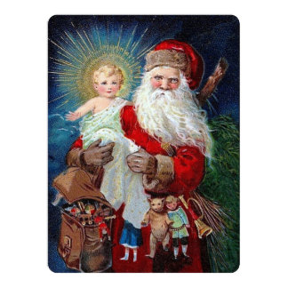 Santa Claus with Christ Child Card