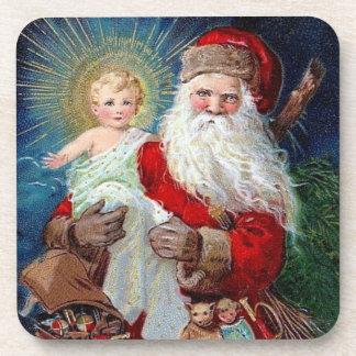 Santa Claus with Christ Child Coaster