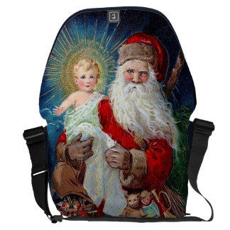 Santa Claus with Christ Child Messenger Bag