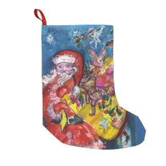 SANTA CLAUS WITH CHRISTMAS GIFT SACK SMALL CHRISTMAS STOCKING