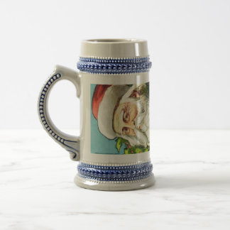 SANTA CLAUS WITH DOLLS FOR GIFT BEER STEIN