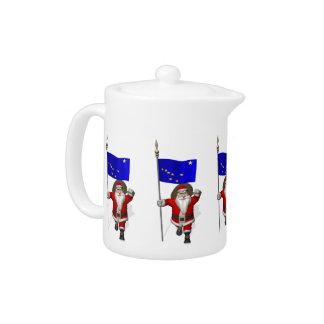 Santa Claus With Ensign Of Alaska Teapot