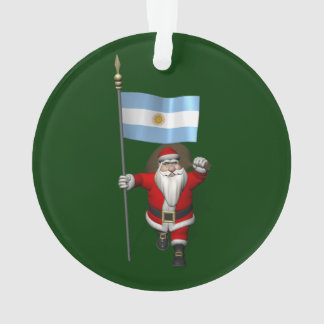 Santa Claus With Ensign Of Argentina Ornament