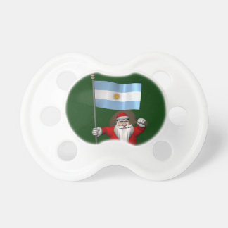 Santa Claus With Ensign Of Argentina Pacifier
