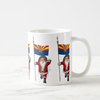 Santa Claus With Ensign Of Arizona Coffee Mug