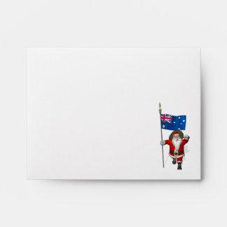Santa Claus With Ensign Of Australia Envelopes