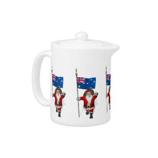 Santa Claus With Ensign Of Australia Teapot