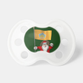 Santa Claus With Ensign Of Bali Pacifier