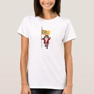 Santa Claus With Ensign Of Bali T-Shirt