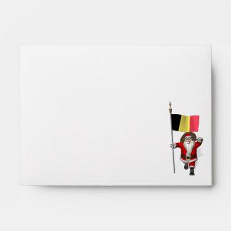 Santa Claus With Ensign Of Belgium Envelopes