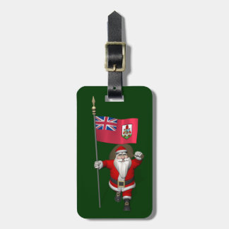 Santa Claus With Ensign Of Bermuda Luggage Tag