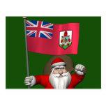 Santa Claus With Ensign Of Bermuda Postcard