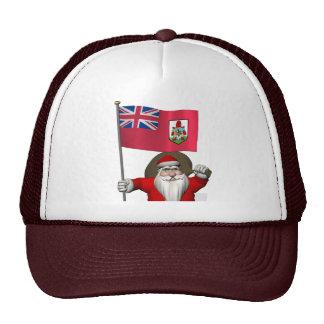 Santa Claus With Ensign Of Bermuda Trucker Hat