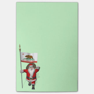 Santa Claus With Ensign Of California Post-it® Notes