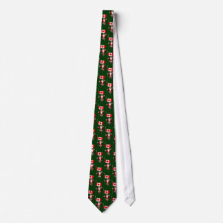 Santa Claus With Ensign Of Canada Neck Tie